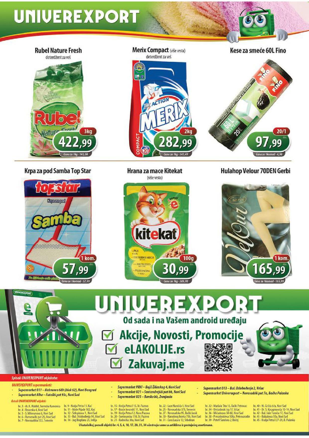 Univerexport katalog najbolje ponude
