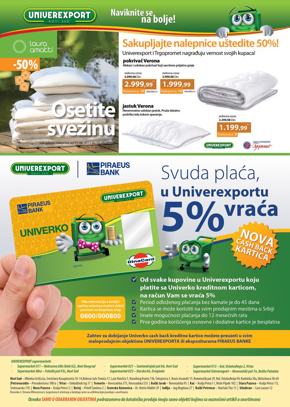 Univerexport katalog odlične ponude za vas