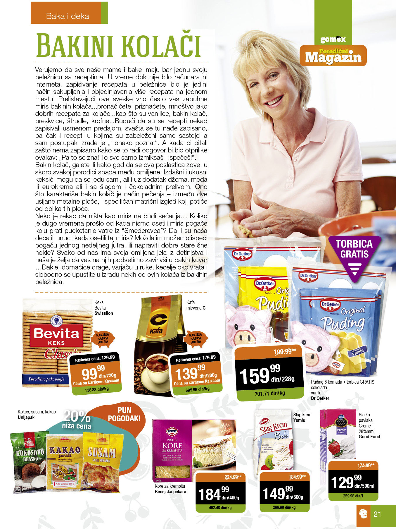 Gomex akcija sve za porodičnu kupovinu