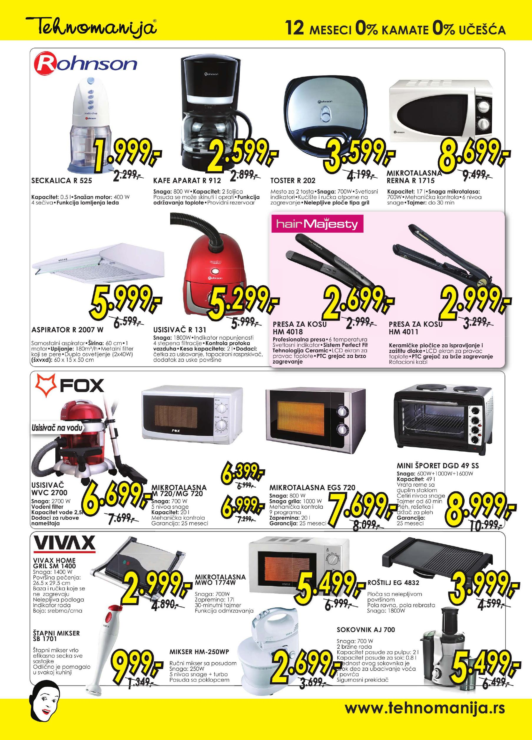 Tehnomanija katalog mali kućni aparati