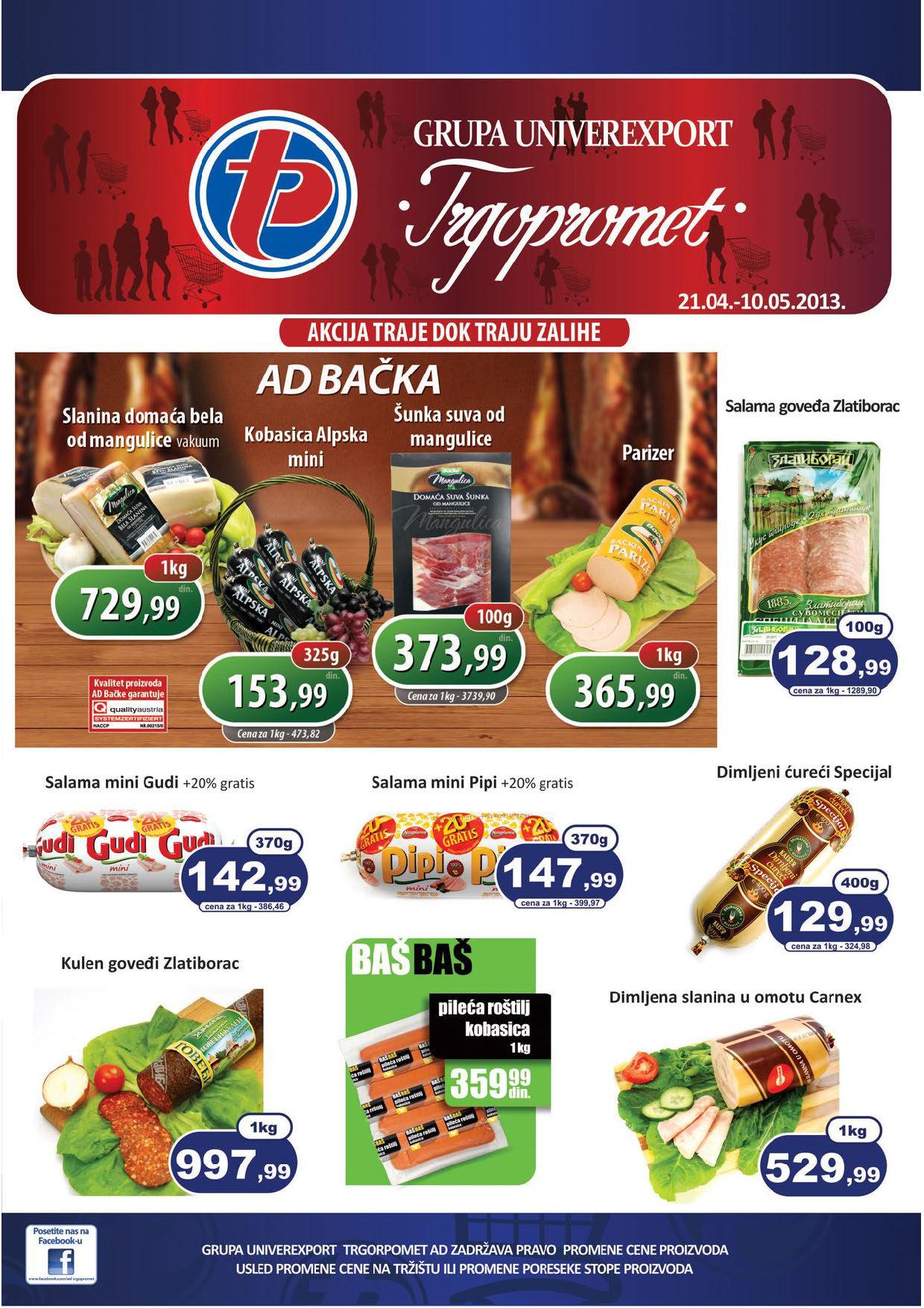 Trgopromet Katalog Prehrana