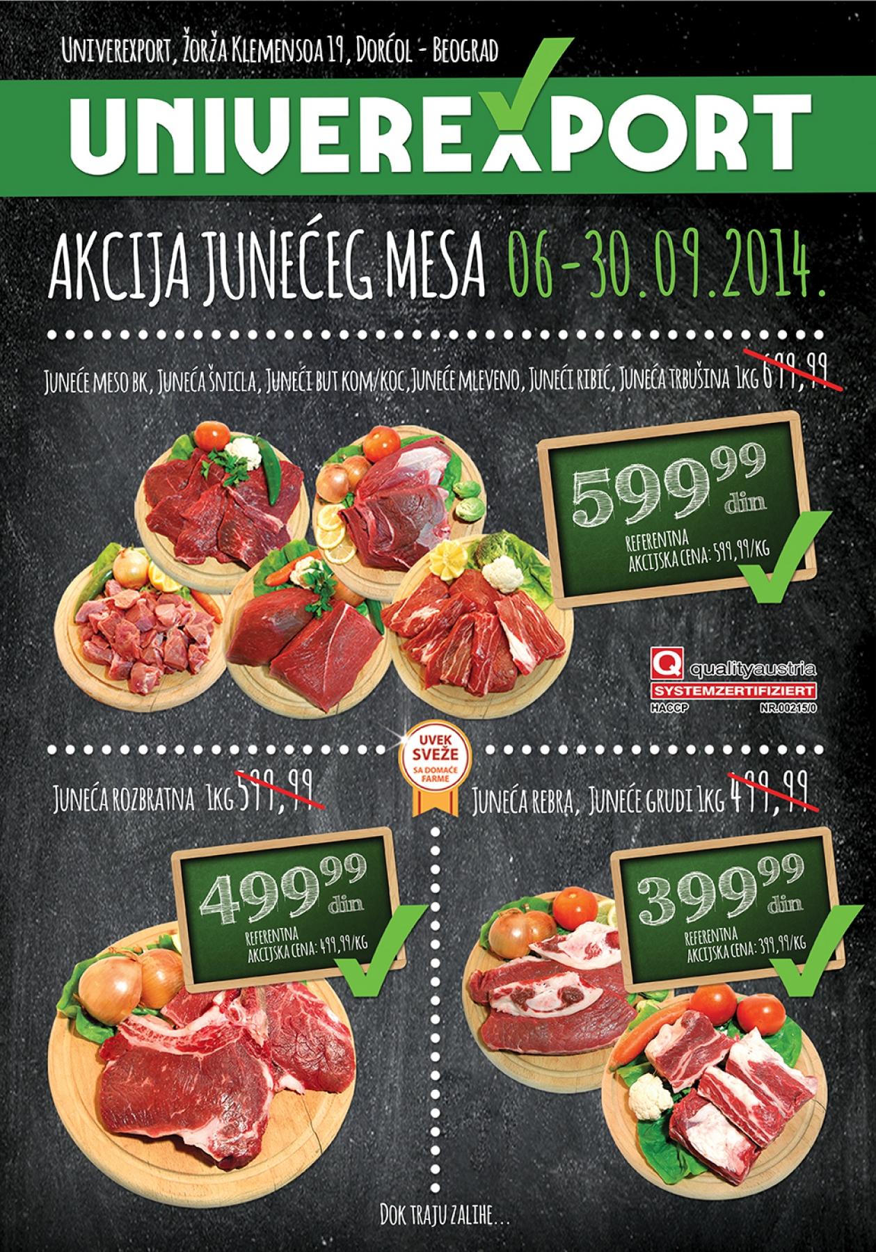 Univerexport akcija junećeg mesa